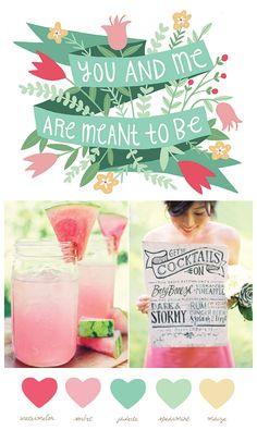 Party Palette: Watermelon + Spearmint - The Sweetest Occasion | The Sweetest Occasion