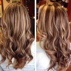 Long Dark Blonde Highlighted Hair