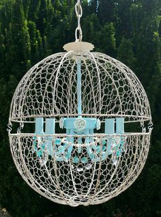 Check out this item in my Etsy shop https://www.etsy.com/listing/290342901/orb-chandelier-orb-light-rustic-light