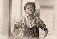 "- Furman Owens, 12 years old. Can't read. Doesn't know his A,B,C's. Said, ""Yes I want to learn but can't when I work all the time."" Been in the mills 4 years, 3 years in the Olympia Mill. Columbia, South Carolina.-  The History Place - Child Labor in America: Investigative Photos of Lewis Hine"