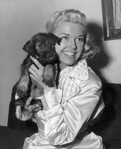 Doris Day With Schnauzer