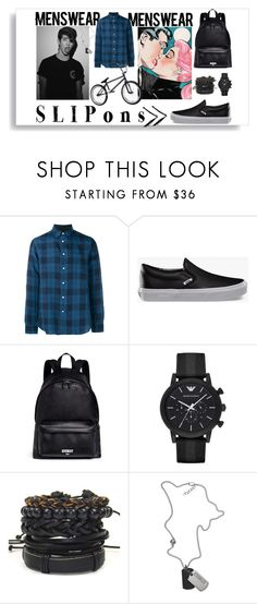 """BMX BOY"" by rowan-na-daw ❤ liked on Polyvore featuring rag & bone, Vans, Givenchy, Emporio Armani, Diesel, men's fashion and menswear"