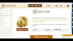 Покупка  криптовалюты   в кабинете ADS Cash