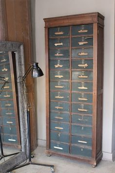 attic - Antique French Filing Cabinet -