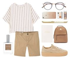 Untitled #184 by moderockcity on Polyvore featuring polyvore ファッション style MANGO Puma Rebecca Minkoff Garrett Leight Clinique CLEAN Skin & Tonic Smythson Kate Spade fashion clothing