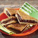 """Pie Iron Chocolate """"Cheesecake"""" Great idea for our camping trip!"""
