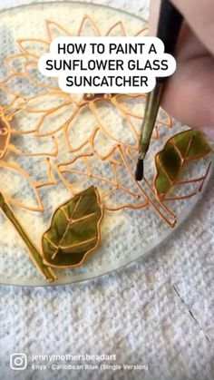 Glass Painting Designs, Paint Designs, Paper Flowers Roses, Crafts To Make And Sell, Clay Projects, Suncatchers, Glass Ornaments, Fall Crafts, Diy Gifts