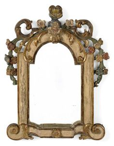 A NORTH EUROPEAN PAINTED MIRROR -  LATE 18TH CENTURY. (=)