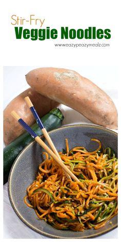 Stir Fry Veggie Noodles - Eazy Peazy Mealz