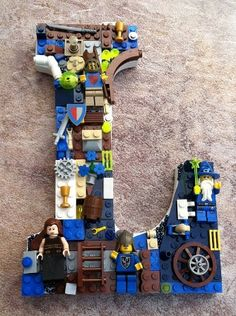 diy lego letter - I know a few boys who would LOVE this. :)
