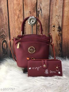 Checkout this latest Handbags Product Name: *Trendy Women's Slingbag* Sizes:Free Size Country of Origin: India Easy Returns Available In Case Of Any Issue   Catalog Rating: ★4.2 (2452)  Catalog Name: Eva Classy Ladies PU Leather Sling Bags & Wallet Combos Vol 1 CatalogID_381177 C73-SC1075 Code: 045-2807727-3111