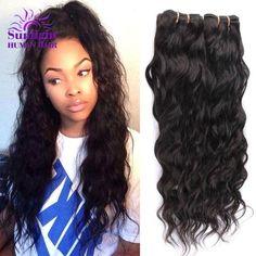 Brazilian Virgin Hair Water Wave 3 Bundles Wet And Wavy Virgin Brazilian Human Hair Weave Brazillian Curly Weave Hair Extensions