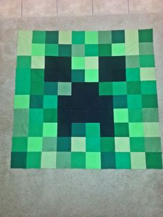 Hey, I found this really awesome Etsy listing at http://www.etsy.com/listing/157950075/mine-er-craft-ing-square-quilt