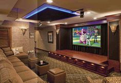 Rob Dzedzy of Media Rooms Inc., West Chester, PA - Home theater media lounge with fiber optic ceiling
