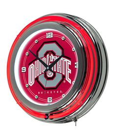 Loving this Ohio State Buckeyes Neon Wall Clock on #zulily! #zulilyfinds
