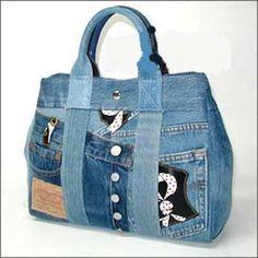 alteraciones de mezclilla - una bolsa de jeans | costura
