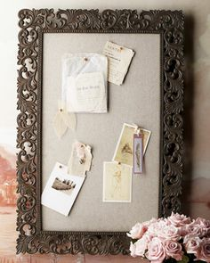 GG Collection Bulletin Board from Horchow. Shop more products from Horchow on Wanelo. Desk Stationery, World Decor, Do It Yourself Wedding, Desk Tray, Desk Accessories, Getting Organized, Bulletin Boards, Office Decor, Office Ideas