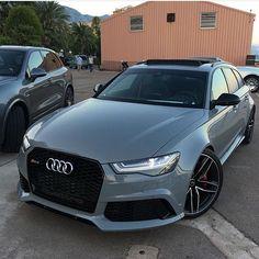 Audi RS6 in Nardo Grey cc: @autocars1 Photo by @gmk001 | #LuxuryLifestyleMagazine