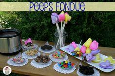 Peeps Fondue from Hoosier Homemade.. what a cute idea!