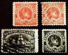 Newfoundland #56-#59 1887-98  Mint & Used Set 4 items