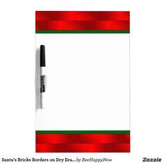Santa's Bricks Borders on Dry Erase Board