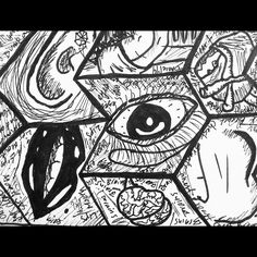 Sugar, Spice and the destruction  #art #arte #illustration #sharpies #drawing #design #poster #woman #stilllife #sketch #atx #Texas #sanantonio #love #destroytobuild #monsters #thedesigntip #prints #arts_help #artistmafia #baigart #brains