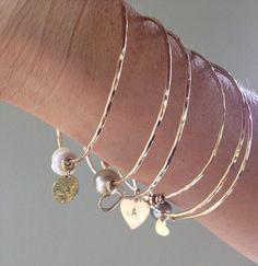 14K Gold Custom Charm Bracelets by EstrellaJewels on Etsy, $65.00