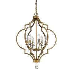 Acclaim Lighting Peyton Raw Brass 21 Inch Six Light Chandelier On SALE