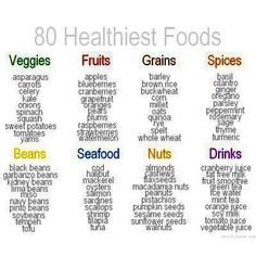Consider these food options when planning your next meal.