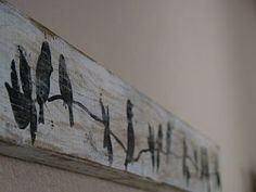 Rustic birds on weathered board
