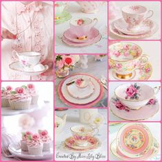 Teacups can be so personal. Be sure to fill with your favorite tea. Sip to your health! Color Collage, Beautiful Collage, All Nature, Illusion Art, Pink Tone, Birthday Quotes, Happy Day, My Favorite Color, Tea Set