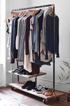 Locust Industrial Storage Rack Closet Space, Wardrobe Closet, Walk In Closet,  Capsule Wardrobe
