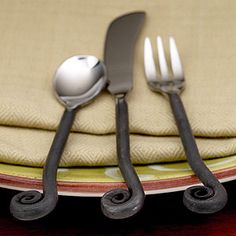1000 images about flatware on pinterest rustic flatware cutlery and place settings - Treble clef silverware ...