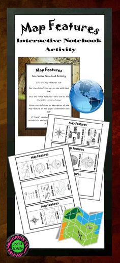 Students will create tabbed foldables about map features with this interactive activity. Terms include: longitude, latitude, continent, border, map legend, map key, map scale, map title, and more. Great for upper elementary and middle school! Blank foldable is included for additional terms, definitions, and descriptions. Visit Jodi's Jewels today for more!