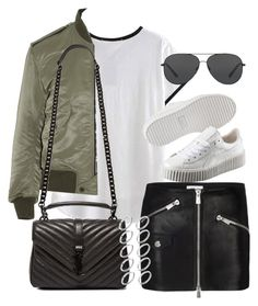 """Sem título #1259"" by oh-its-anna ❤ liked on Polyvore featuring Michael Kors, Anine Bing, Yves Saint Laurent, Puma and ASOS"