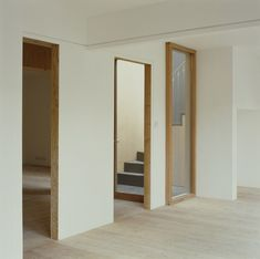 Stephen Taylor Architects  House on Work - pronounced door and window frames in pine wood