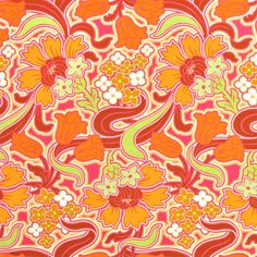 Amy Butler's 'Disco Flower Tangerine'