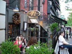 5.17.2007. I rediscovered this delightful outdoor spot just south of Gramercy Park the other day. Meet me for coffee! We could sit outside at that cute little table by the window. Or inside if it's raining. (It's 71 Irving Place, and it's still open in 2014)