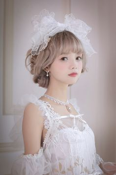 R-series -Blue Bird- Vintage Classic Lolita Accessories Quirky Fashion, Kawaii Fashion, Cute Kawaii Girl, Popteen, Cute Beauty, Japanese Street Fashion, Queen, Pretty And Cute, Lolita Dress