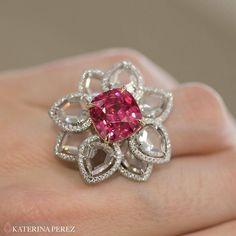 Nirav Modi. Via KATERINA PEREZ (@katerina_perez) on Instagram: @niravmodijewels #spinel and #diamond #ring