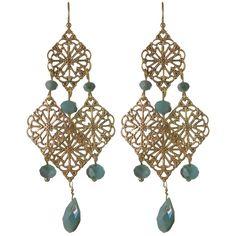 HandPicked: Blue Chandelier Earrings [10087298] - $15.00