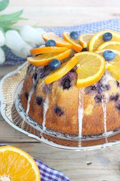 Rezept für Orangen Rührkuchen mit Heidelbeeren