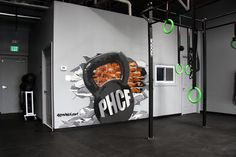 gym crossfit with murals - Google Search