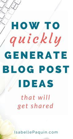 Blog Post Ideas: Are you struggling with generating blog post ideas? Click  to find out my step-by-step formula for coming up with blog posts that will  get shared.