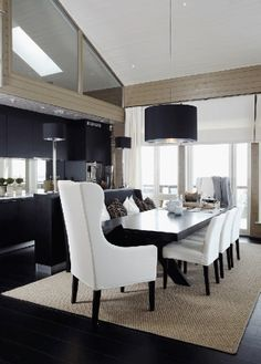 Holiday Home Interior, Dining Room — Christian's & Hennie - www. Interior Design Studio, Home Interior, Dining Room Inspiration, Living Styles, Cool Rooms, Dining Chairs, Dining Area, Dining Rooms, Home And Living