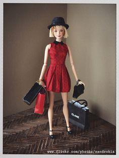 Ooak freckled Barbie