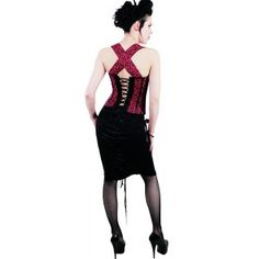 Hell Bunny Oi Oi Corset Red