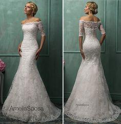 Modelo perfeito para as noivas clássicas e sofisticadas! <3 Wedding dress Alma by Amelia Sposa.