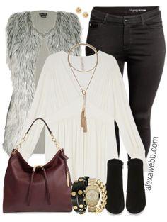 Plus Size Fur Vest Outfit - Plus Size Fashion for Women - alexawebb.com #alexawebb