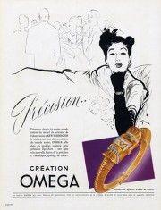 Omega (Watches) 1947 René Gruau